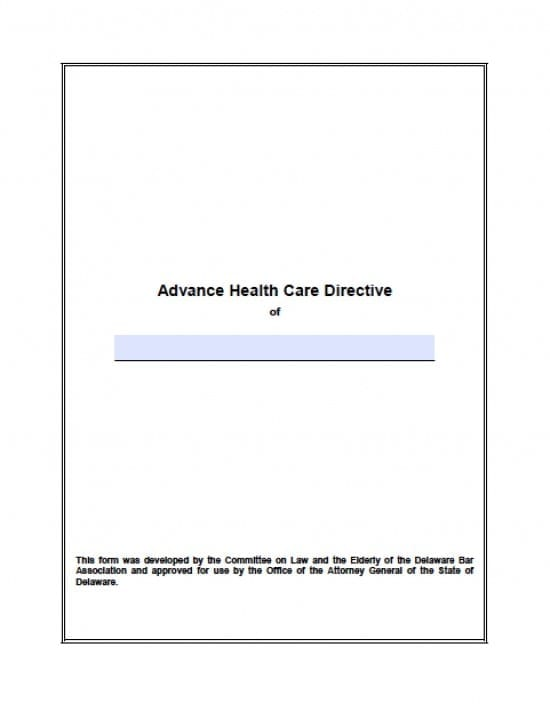 Delaware Medical Power of Attorney Form