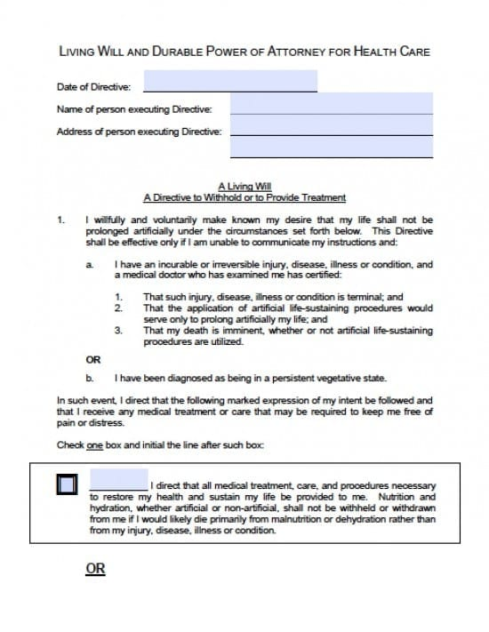Idaho Medical Power of Attorney Form