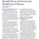 Kansas Medical Power of Attorney Form