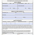 Maryland Vehicle Power of Attorney Form
