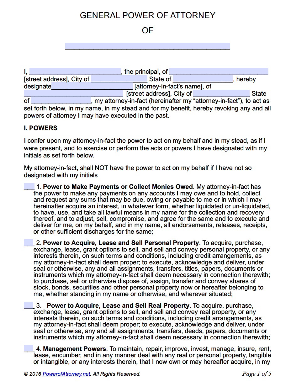 Free power of attorney templates in fillable pdf format power of general falaconquin