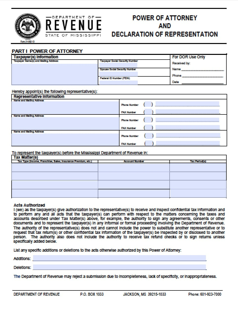 Mississippi tax power of attorney form power of attorney power mississippi tax power of attorney form power of attorney power of attorney falaconquin