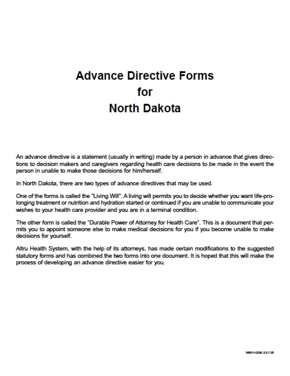 North Dakota Medical Power Of Attorney Form Power Of Attorney