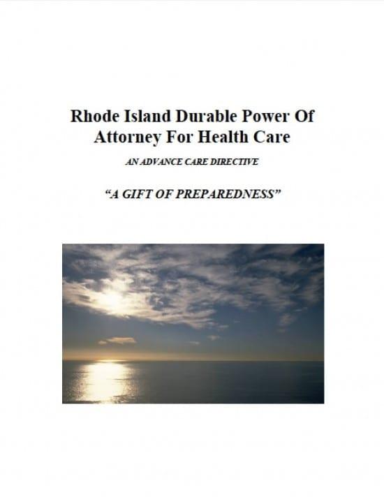 Rhode Island Medical Power of Attorney Form