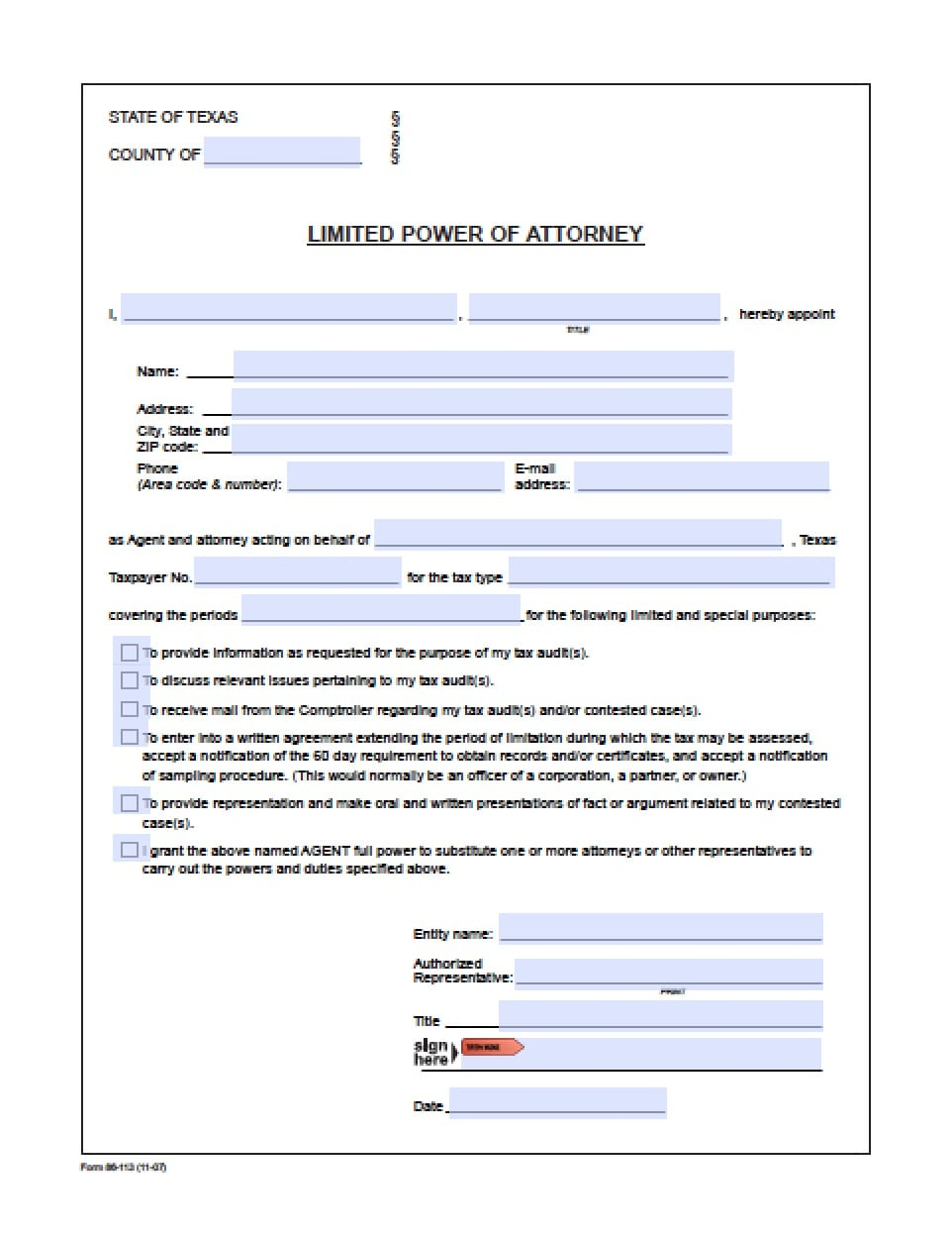 Texas Revocation Power Of Attorney Form Power Of Attorney Power