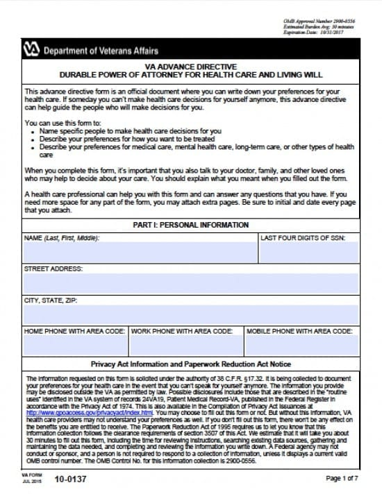 Virginia Medical Power of Attorney Form
