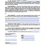 Florida Real Estate ONLY Power of Attorney Form