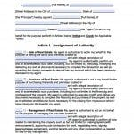 Minnesota Real Estate ONLY Power of Attorney Form