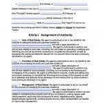 New York Real Estate ONLY Power of Attorney Form