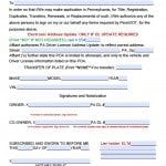 Pennsylvania Vehicle Power of Attorney Form