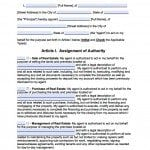 South Dakota Real Estate ONLY Power of Attorney Form