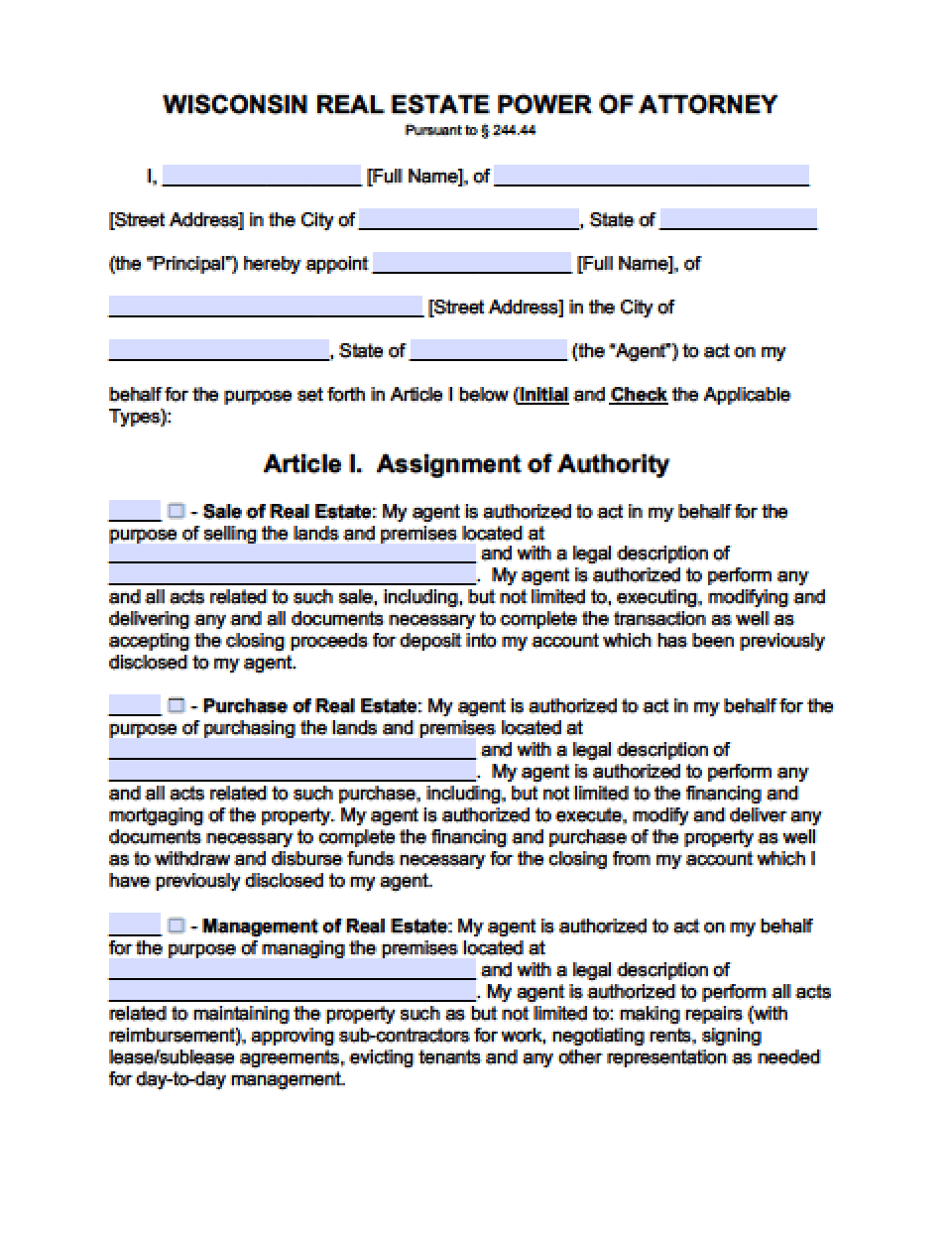 Wisconsin real estate only power of attorney form power of wisconsin real estate only power of attorney form power of attorney power of attorney falaconquin