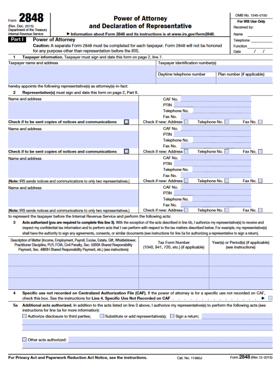 irs-power-of-attorney-2848-form-2016